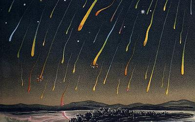 Sternschnuppenregen