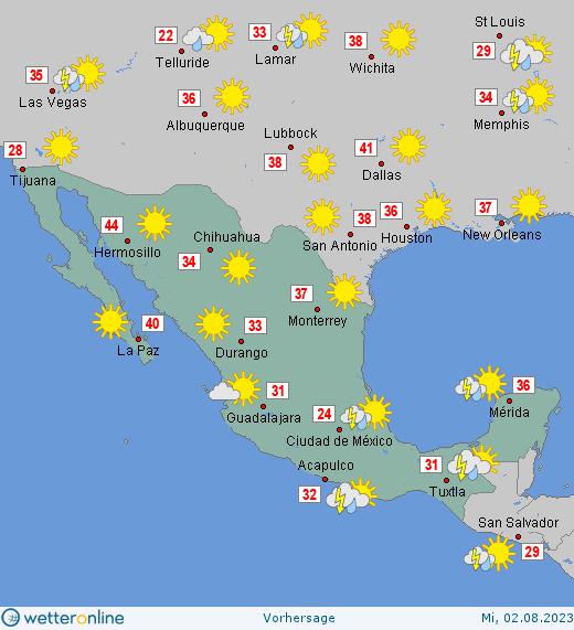 wetter mexiko aktuell