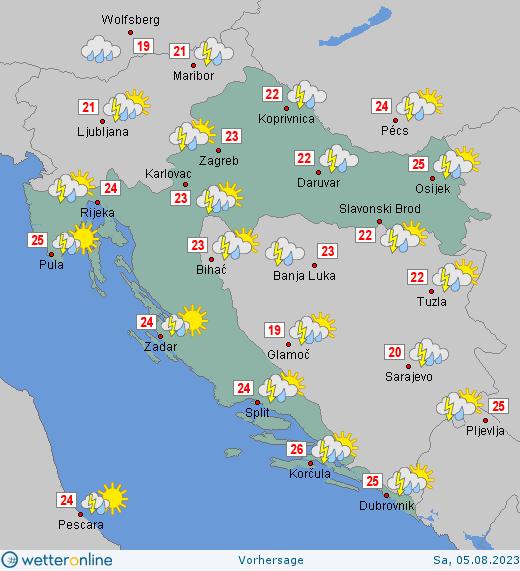 wetter online kroatien