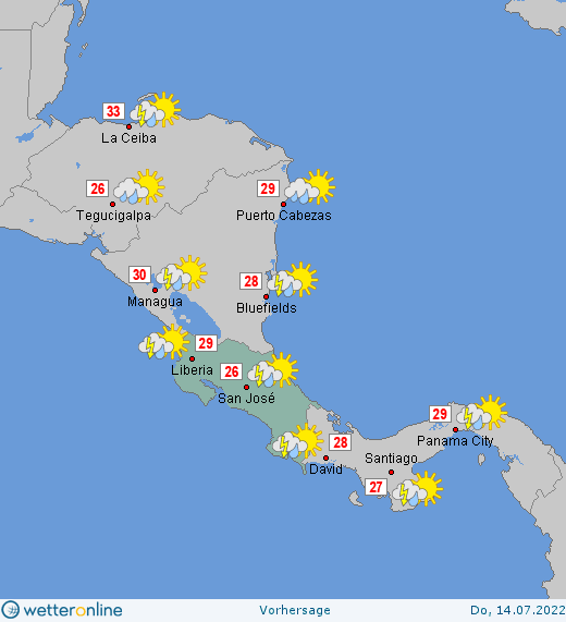 wetter costa rica 14 tage