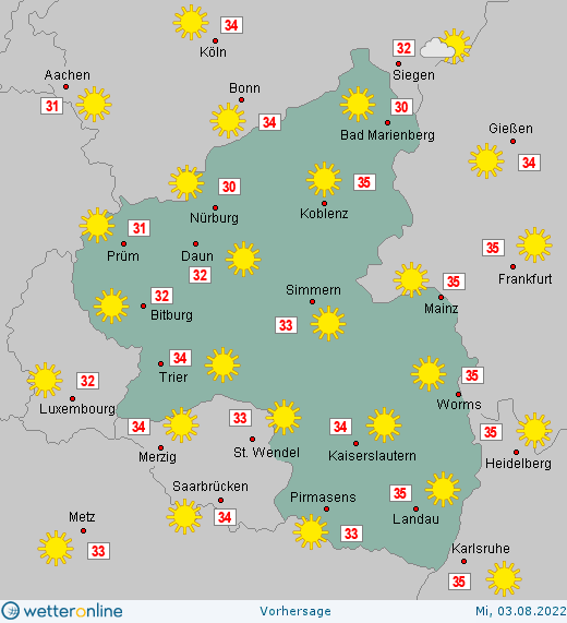 7 tage wetter mainz