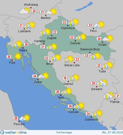 14 Tage Wetter In Kroatien