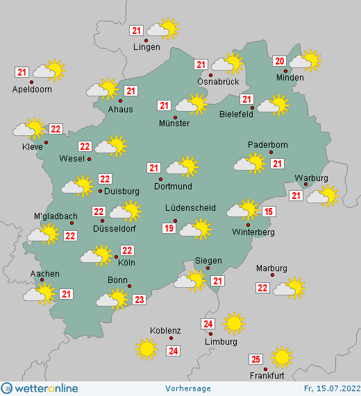 Wetter Nordrhein Westfalen