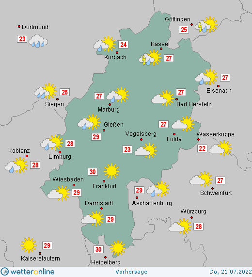 Hessen Wettervorhersage