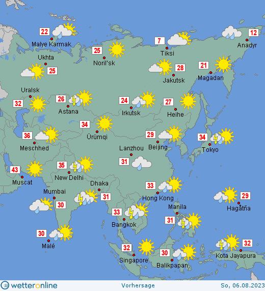 Wetter Asien Wetteronline