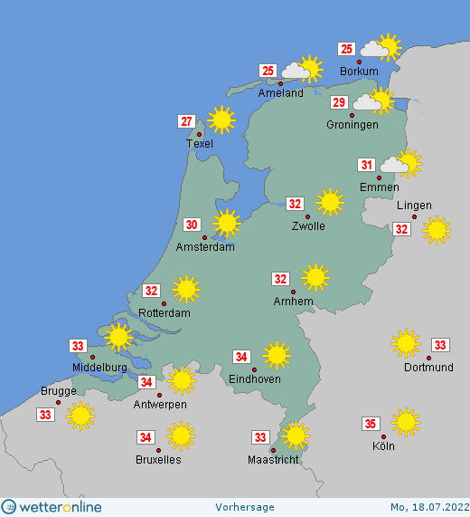 Wetter In Holland Morgen