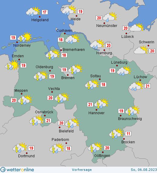 Wettervorhersage Niedersachsen