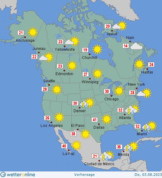 Wetter Nordamerika