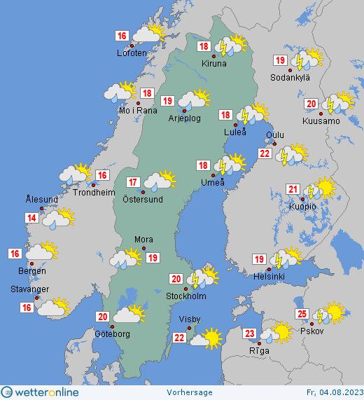 Schweden Waldbrände Karte.Wetter Schweden Aktuelle Wettervorhersage Stockholm Schweden