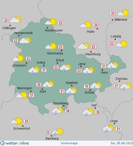 Wetter Thüringen 16 Tage