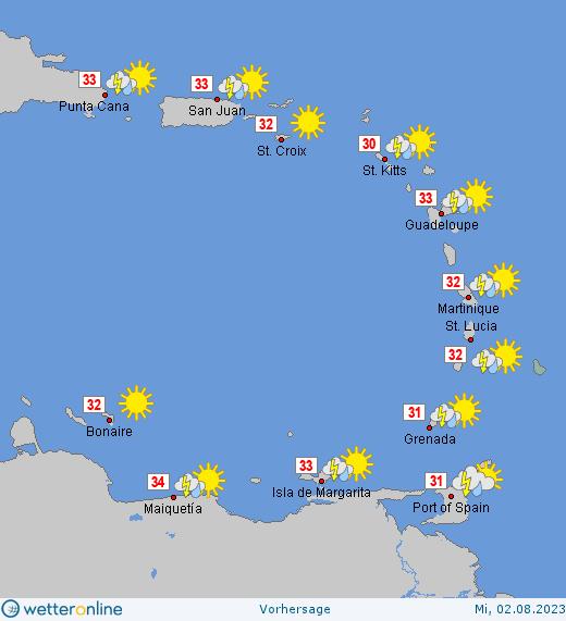 Wetter Puerto Plata 16 Tage