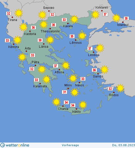 Wetter Griechenland 14 Tage