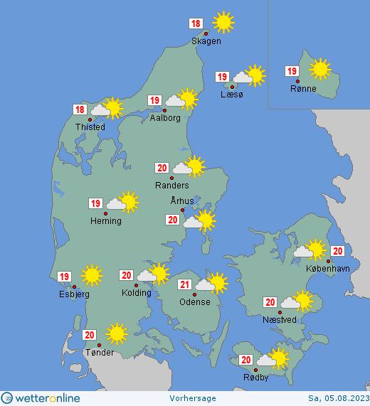 Wetter Dänemark 16 Tage