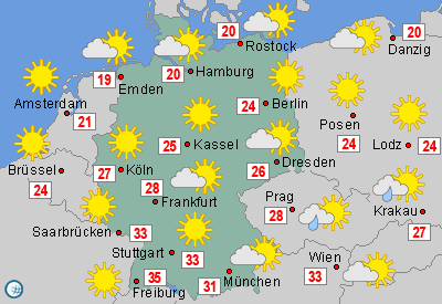 Wetterkarte Deutschland