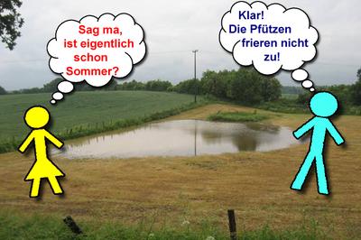 wetternews: sommerwetter mit humor nehmen - wenn der regen wärmer, Gartenbeit