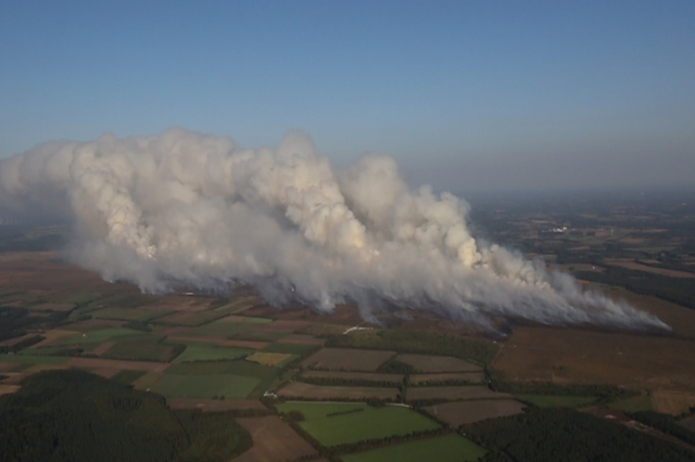 Großer Moorbrand im Emsland