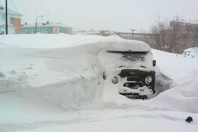 Schneemassen in Russland