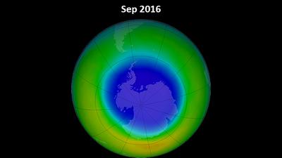 Ozonloch Größe