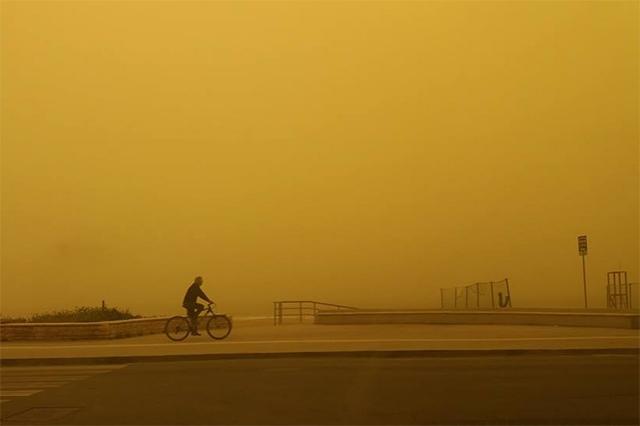 Dichter Saharastaub über Kreta Fotostrecke Wetteronline