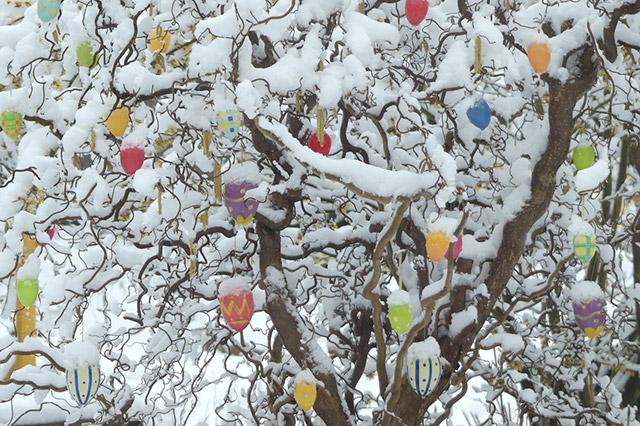 Schnee zum Osterstart