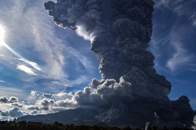 Sumatra Vulkanausbruch