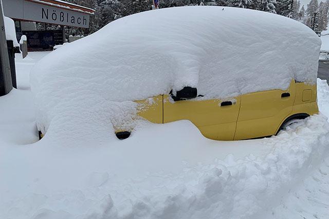 Schnee in Südbayern und Tirol