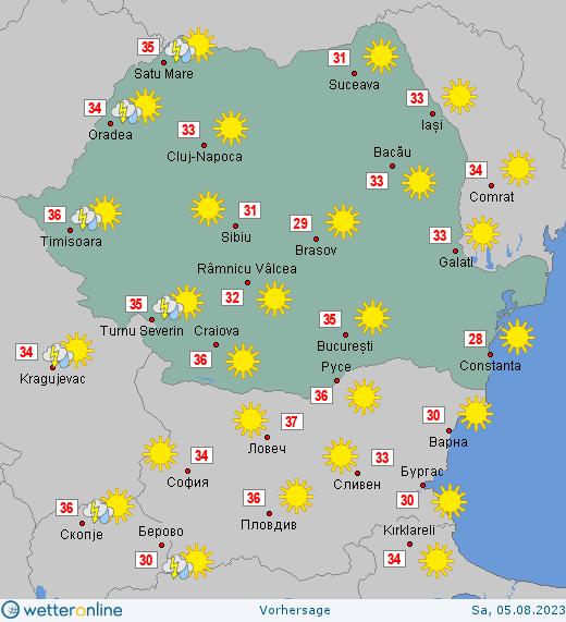Wetter in Rumänien