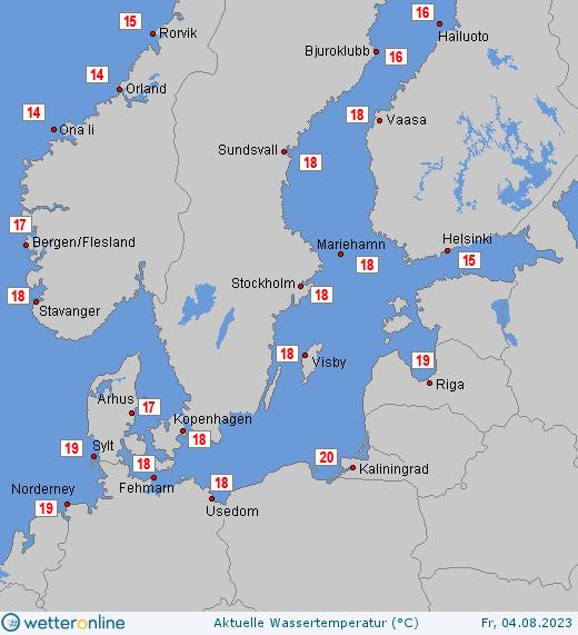 Teplota Baltského moře