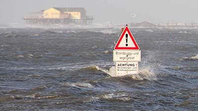 Bildergebnis für sturmflut nordsee heute