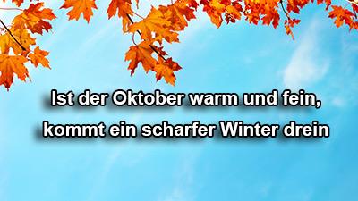 Wetternews: Milder Oktober - Kalter Winter? - Bauernregel ...
